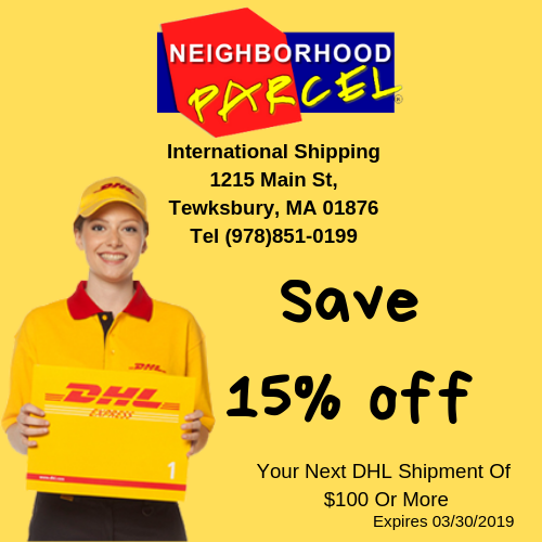 DHL Express International shipping in Lowell MA